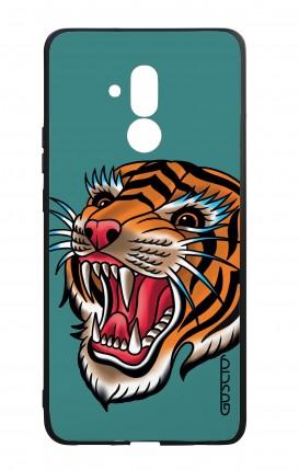 Cover Bicomponente Huawei Mate 20 Lite - Tigre Tattoo su ottanio