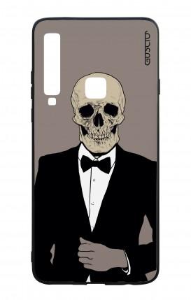 Samsung A9 2018 WHT Two-Component Cover - Tuxedo Skull
