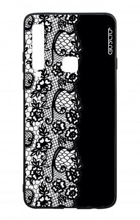 Cover Bicomponente Samsung A9 2018 - Pizzo bianco e nero
