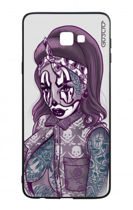 Samsung J4 Plus WHT Two-Component Cover - Chicana Pin Up Clown