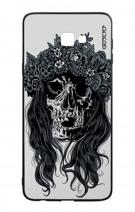 Cover Bicomponente Samsung J4 Plus - Teschio con fiori