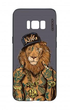 Cover Bicomponente Samsung S8 - Lion King grigio