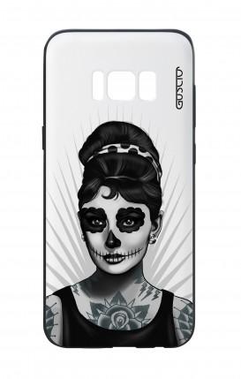 Cover Bicomponente Samsung S8 - Audrey Calavera bianco