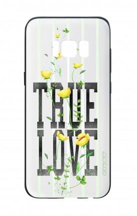 Cover Bicomponente Samsung S8 - Fiori true love bianco
