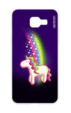 Cover TPU Samsung Galaxy A5 (2016) - Unicorno e arcobaleno