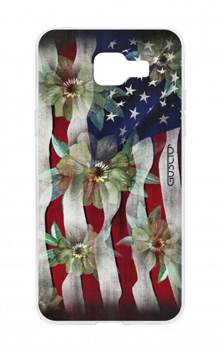 Cover Samsung Galaxy A5 (2016) - USA Flag&Flowers