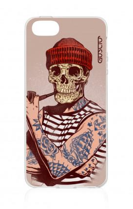 Cover TPU Apple iPhone 5/5s/SE - Marinaio teschio