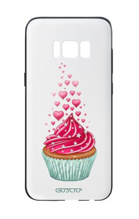 Samsung S8 White Two-Component Cover - WHT Cupcake in Love