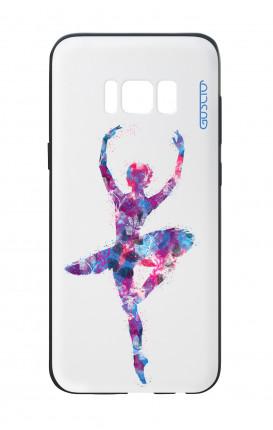 Cover Bicomponente Samsung S8 - Ballerina fondo bianco