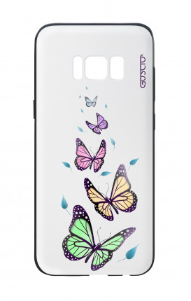 Samsung S8 White Two-Component Cover - WHT Butterflies&Leaves