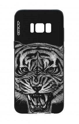 Samsung S8 White Two-Component Cover - Black Tiger