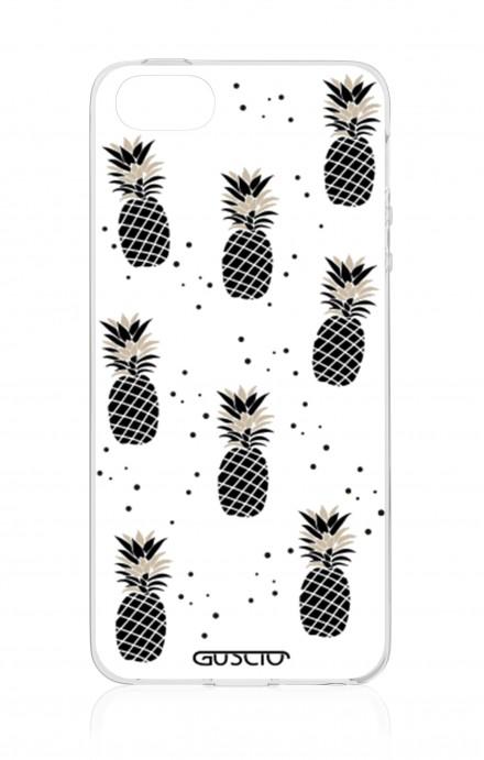 Cover Apple iPhone 5/5s/SE - Black&White Ananas