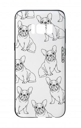 Cover Bicomponente Samsung S8 - Bulldog francese pattern