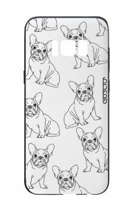 Samsung S8 White Two-Component Cover - French Bulldog Pattern