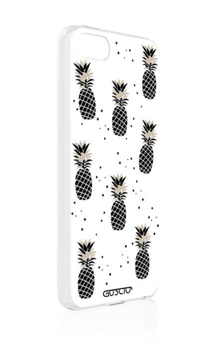 Cover Apple iPhone 5/5s/SE - Ananas bianco e nero