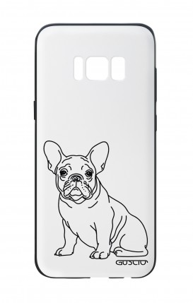 Samsung S8 White Two-Component Cover - French Bulldog