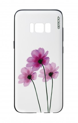 Samsung S8 White Two-Component Cover - Flowers on white