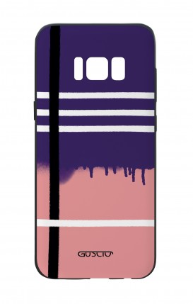 Cover Bicomponente Samsung S8 - Fantasia rosa e viola