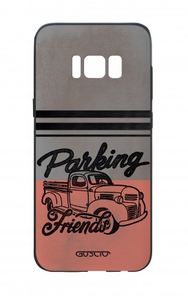 Samsung S8 White Two-Component Cover - Parking Friends