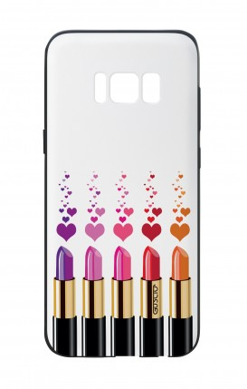 Samsung S8 White Two-Component Cover - Lipsticks