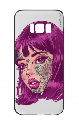 Cover Bicomponente Samsung S8 - Tattooed Girl Viso