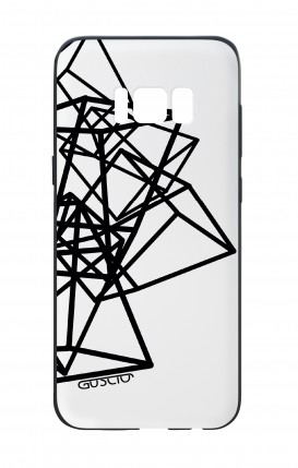 Samsung S8 White Two-Component Cover - Geometric shapes