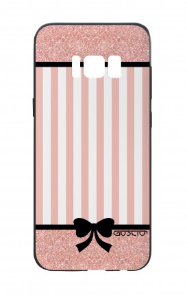 Samsung S8 White Two-Component Cover - Romantic pink