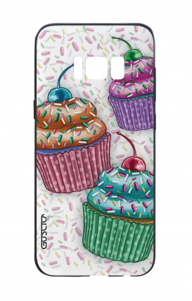 Samsung S8 White Two-Component Cover - Cupcakes