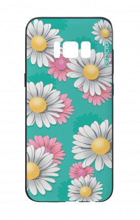 Samsung S8 White Two-Component Cover - Daisy Pattern