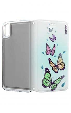 Cover STAND Apple iPhone X - Farfalle & foglie