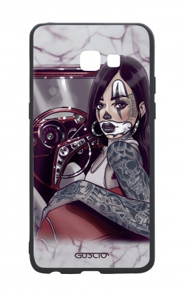 Samsung A5 2017 White Two-Component Cover - Chicana Pin Up on her way