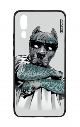Huawei P20 WHT Two-Component Cover - Tattooed Pitbull