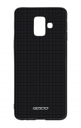 Samsung A6 WHT Two-Component Cover - Small Checks