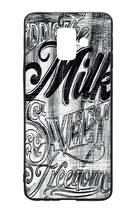 Samsung A6 WHT Two-Component Cover - Black and white graffiti