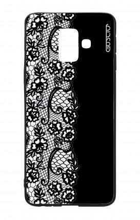 Cover Bicomponente Samsung A6 WHT - Pizzo bianco e nero
