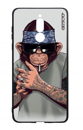 Huawei Mate10Lite WHT Two-Component Cover - Chimp with bandana