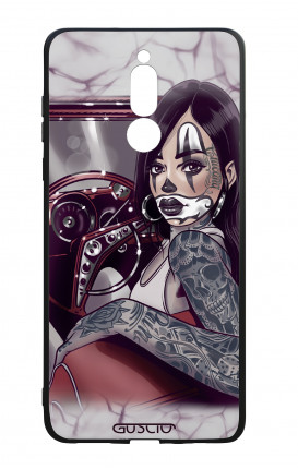 Cover Bicomponente Huawei Mate 10 Lite - Pin Up Chicana in auto