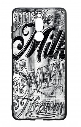 Huawei Mate10Lite WHT Two-Component Cover - Black and white graffiti