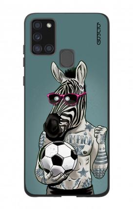 Case Bicomponente Samsung A21s - Zebra