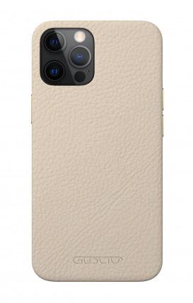 Luxury Leather Case Apple iPhone 12/12 PRO ALABASTER - Neutro