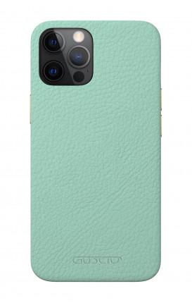 Luxury Leather Case Apple iPhone 12/12 PRO AQUAMARINE - Neutro