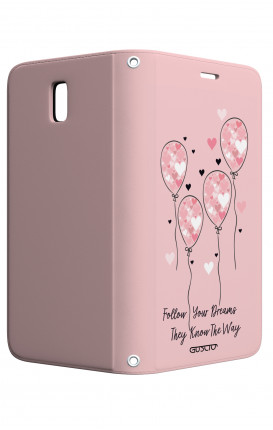Cover STAND Samsung J5 2017 - Palloncini rosa