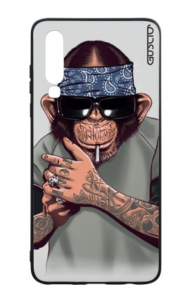 Huawei P30 WHT Two-Component Cover - Chimp with bandana