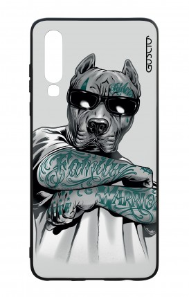 Huawei P30 WHT Two-Component Cover - Tattooed Pitbull