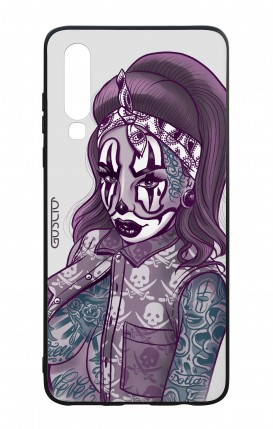 Huawei P30 WHT Two-Component Cover - Chicana Pin Up Clown
