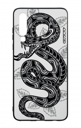 Huawei P30 WHT Two-Component Cover - Snake Tattoo