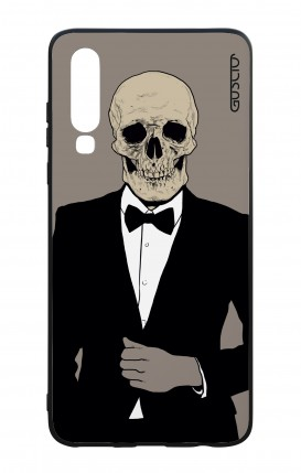 Huawei P30 WHT Two-Component Cover - Tuxedo Skull