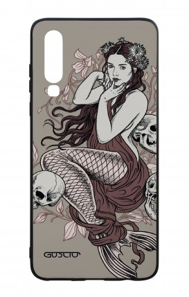Huawei P30 WHT Two-Component Cover - Mermaid with skulls