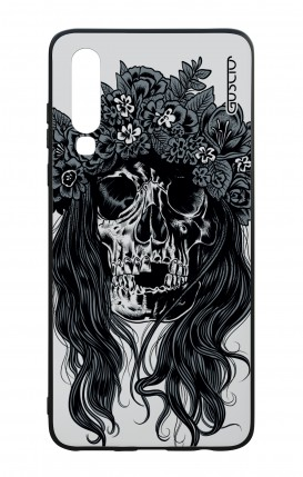 Huawei P30 WHT Two-Component Cover - Skull with flowers