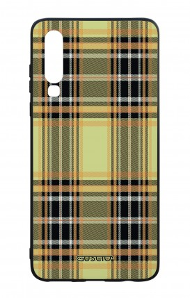 Huawei P30 WHT Two-Component Cover - Yellow tartan